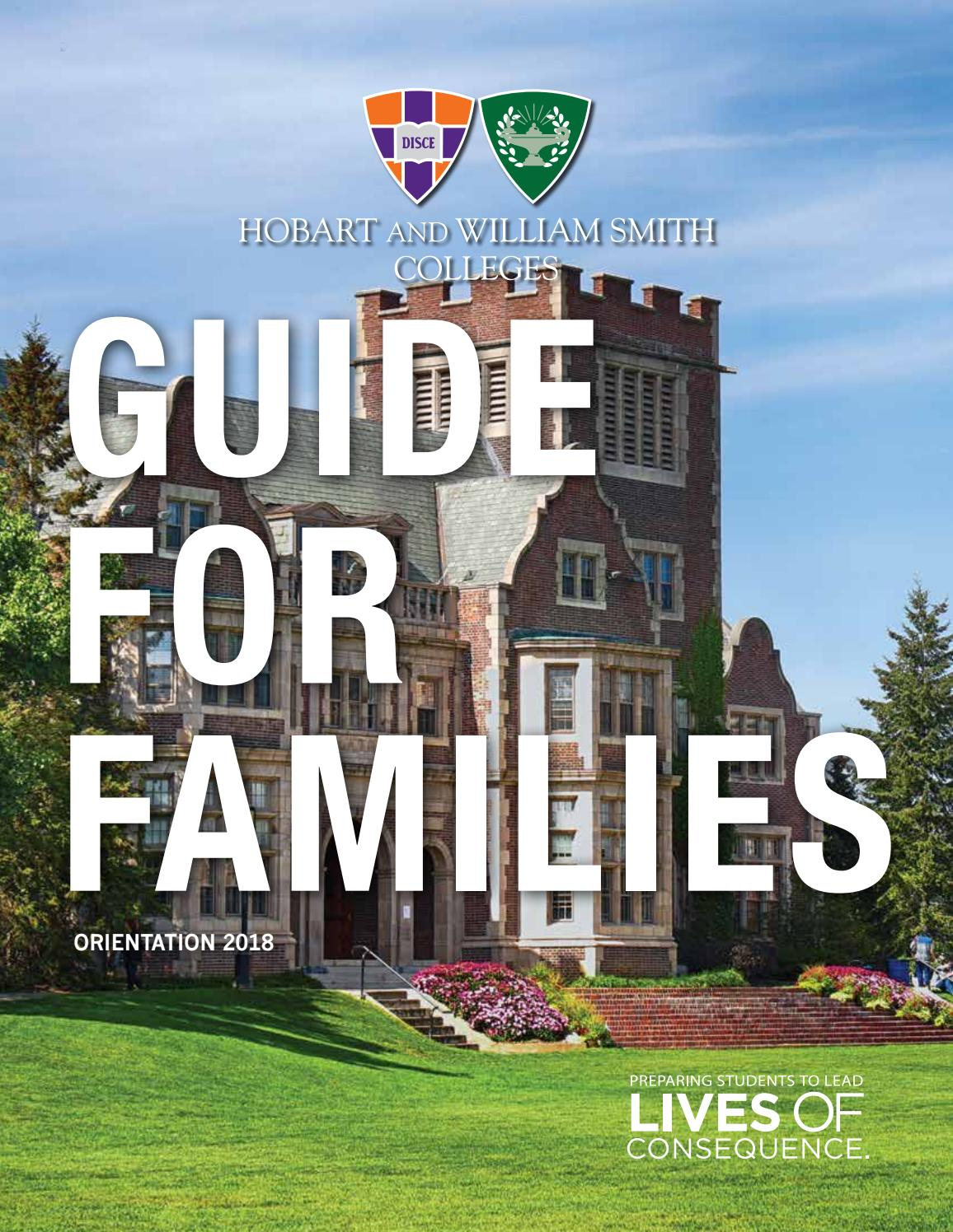 Finalparentguide2018Hobart And William Smith Colleges Throughout Hobart William Smith School Calendar