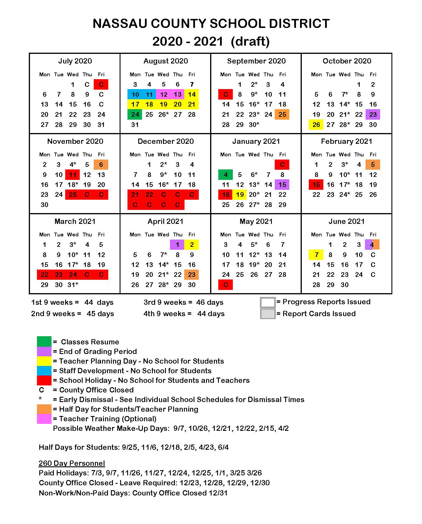 Florida Public School Calendars – All Districts Start Dates In Metro Nashville School Calendar 2021 20