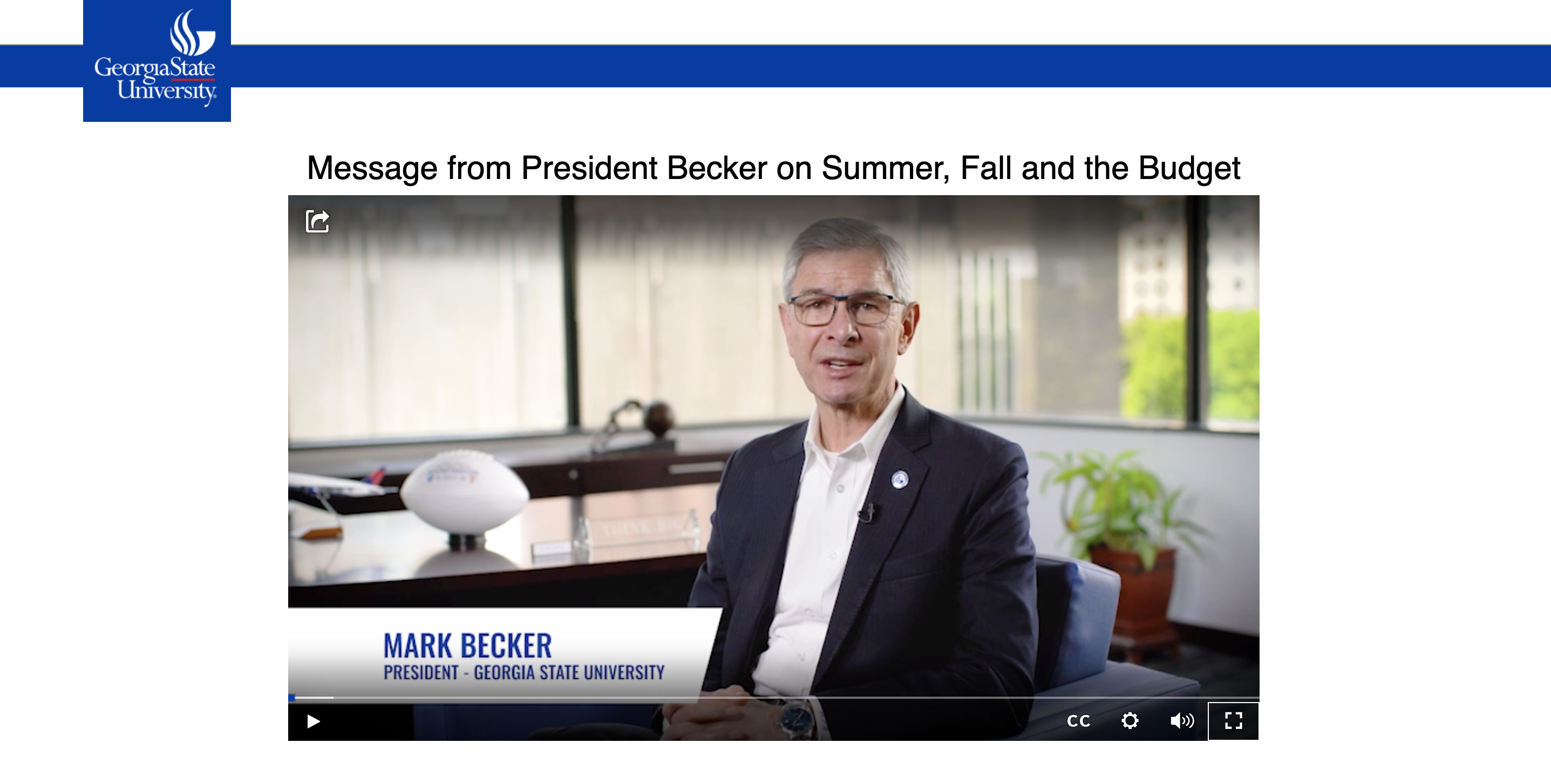 Georgia State University President Discusses Plan For The Pertaining To Georgia State University Summer 2021
