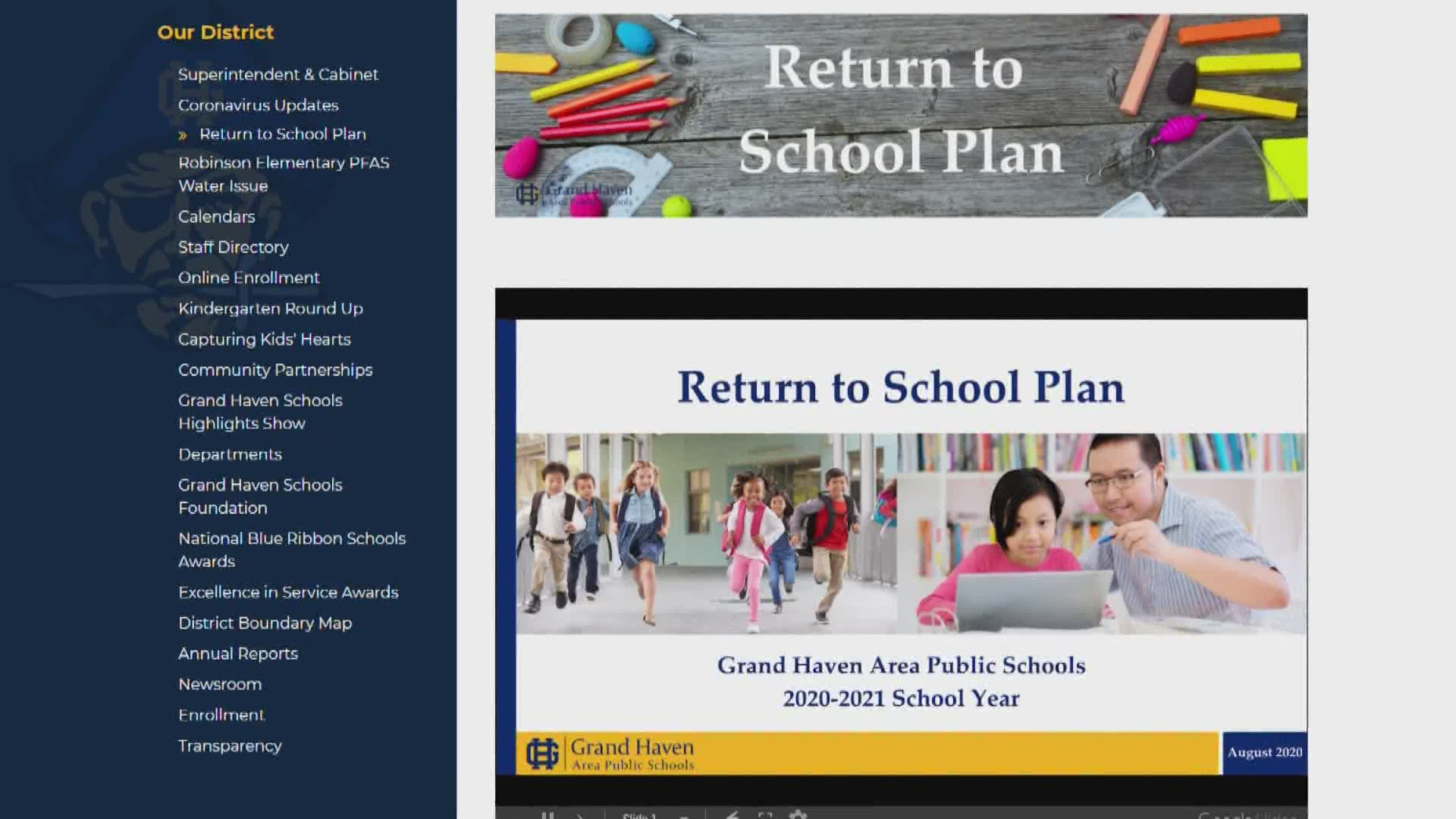Ghaps Releases Back To School Plan With Spring Break For Grand Rapids Public Schools