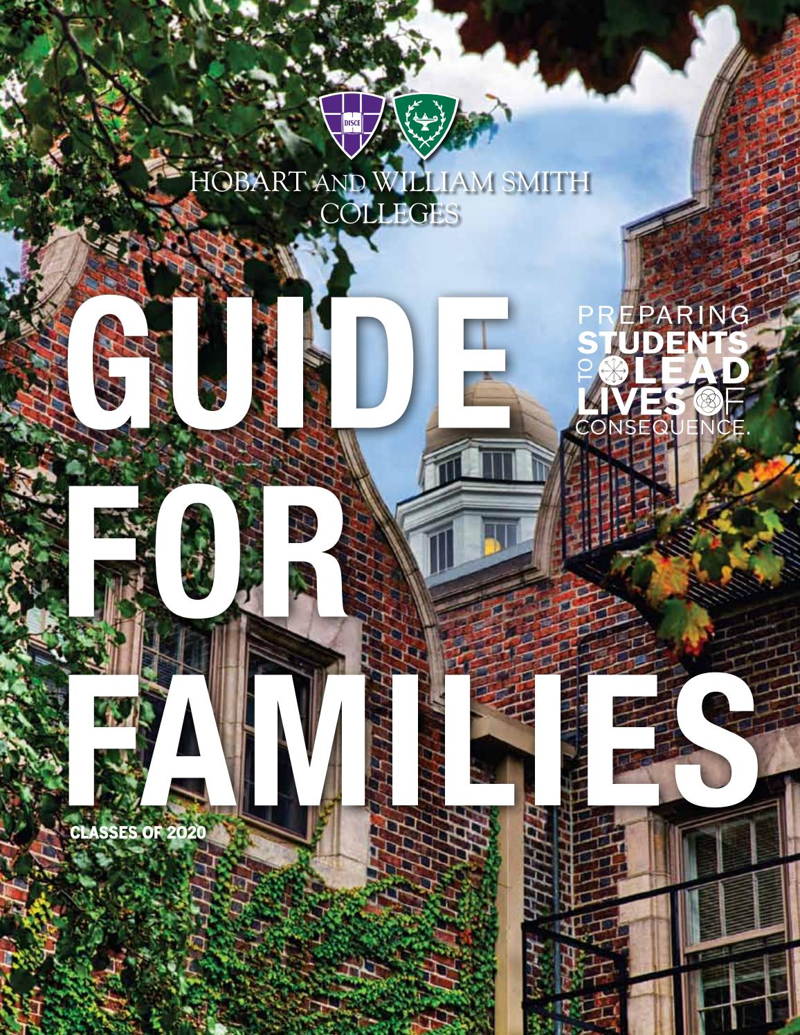 Guide For Families 2016Hobart And William Smith Colleges Intended For Hobart William Smith School Calendar
