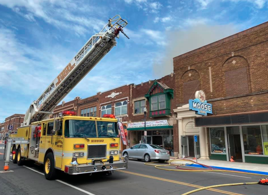 Hibbing Fire Crews Battling Downtown Blaze Within St Louis County Court Calendar Hibbing