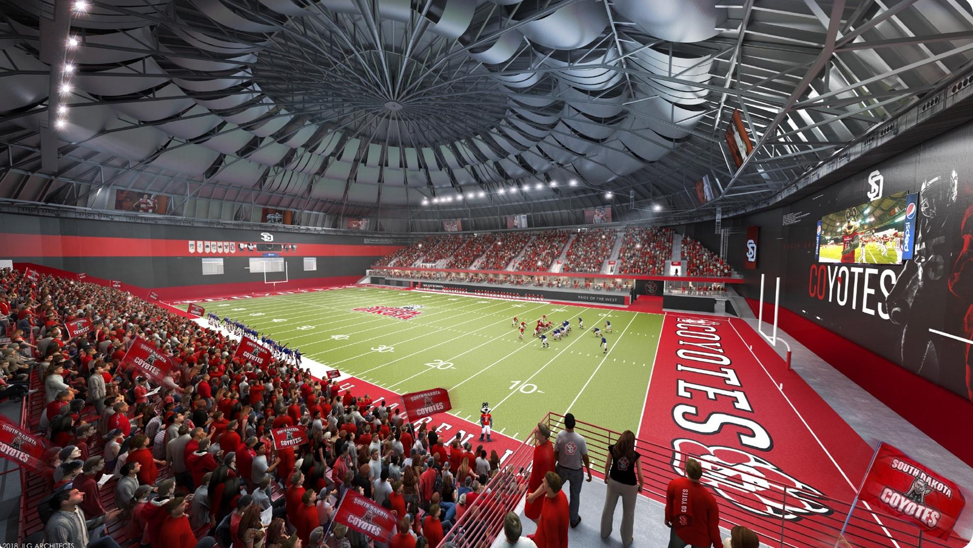 Home Field Advantage: Dakotadome Renovations - University Of Inside University O South Dakota School Schedule