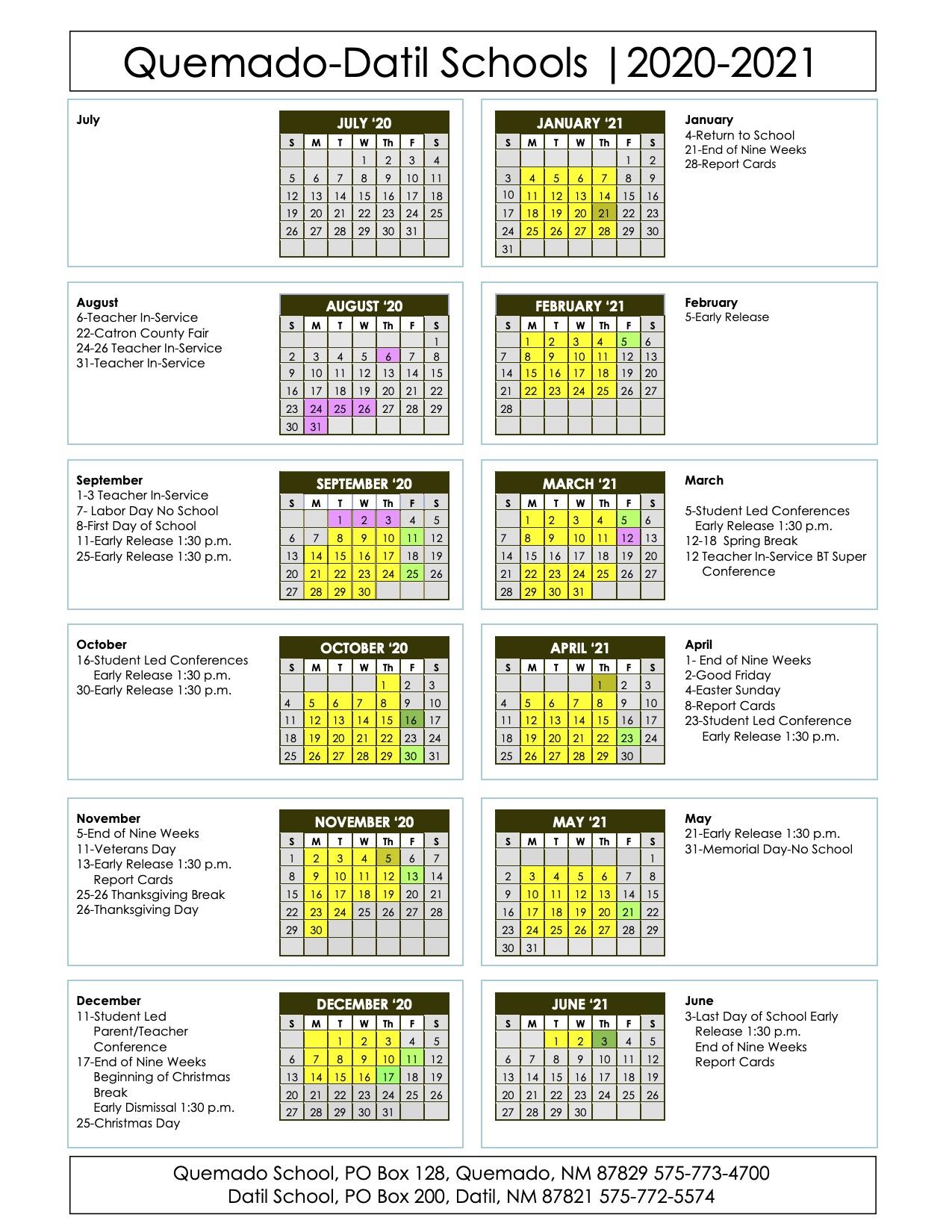 Home – Quemado Isd Inside Las Cruces Isd Calendar