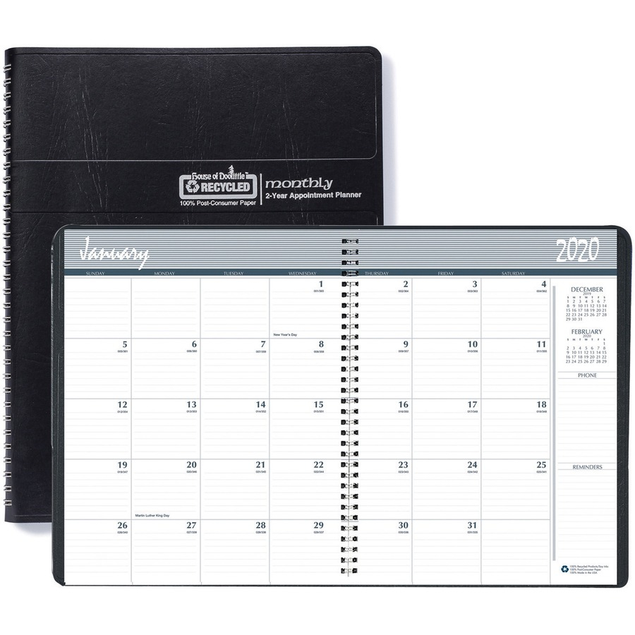 House Of Doolittle 2680 02 Planner - Personal - Julian Dates - Monthly - 2  Year - January 2021 Till December 2022 - 1 Month Double Page Layout - Blue With Julian Date Calendar 2021 Converter