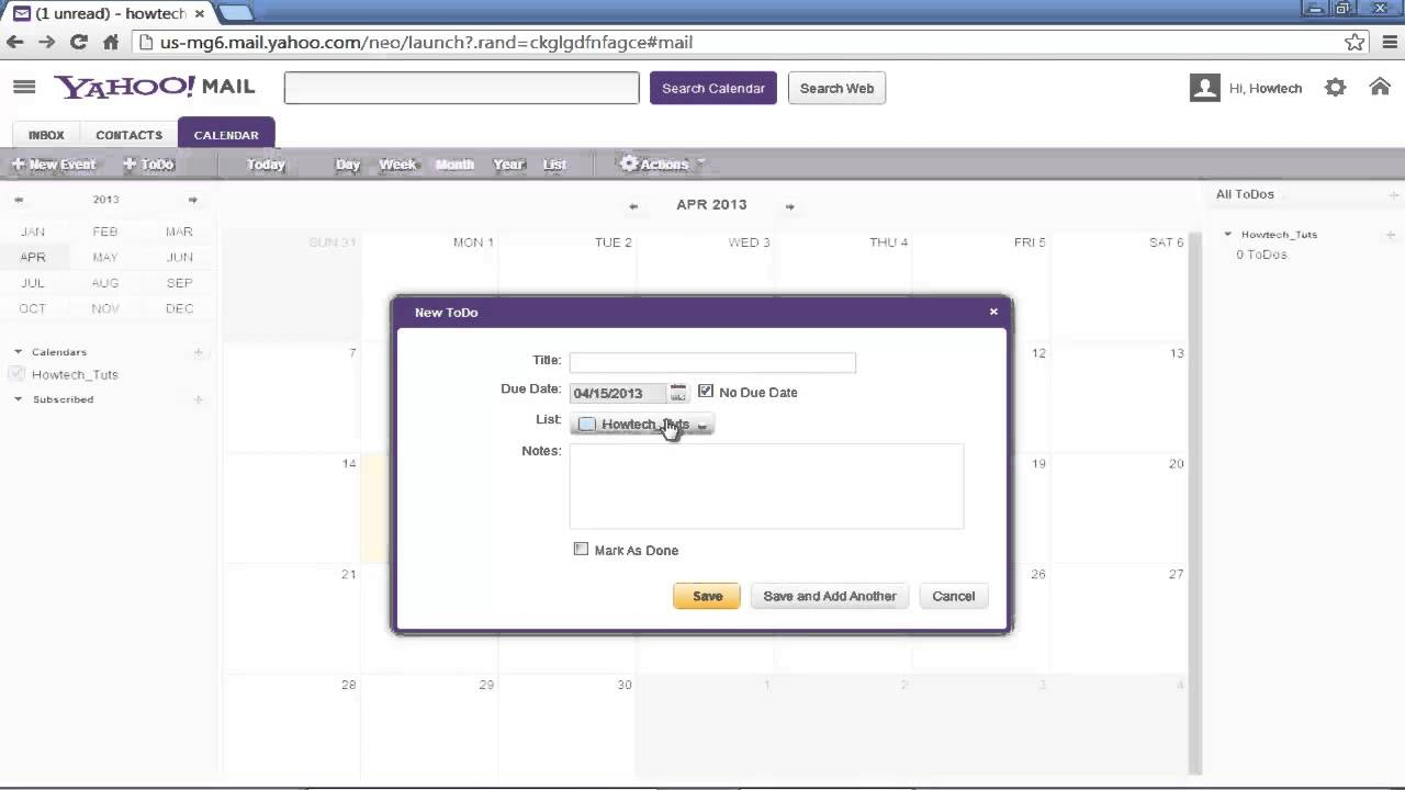 How To Use Yahoo Calendar Throughout Yahoo Calendar App Android