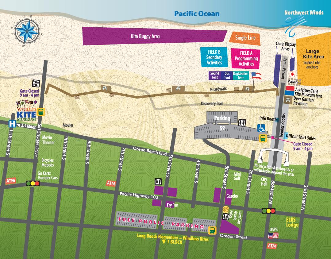 Kite Festival Map - World Kite Museum Within Long Beach Wa Events Calendar 2021