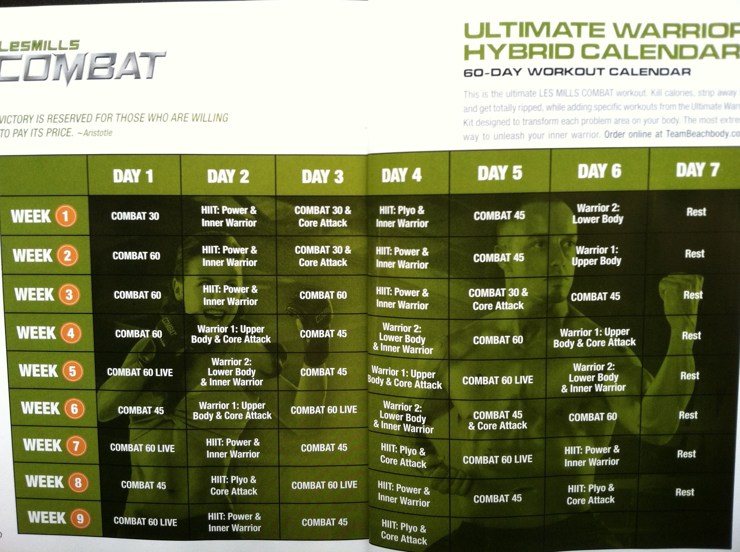 Les Mills Combat Les Mills And Workout Schedule On (With Regarding Les Mills Combat Ultimate Warrior Schedule