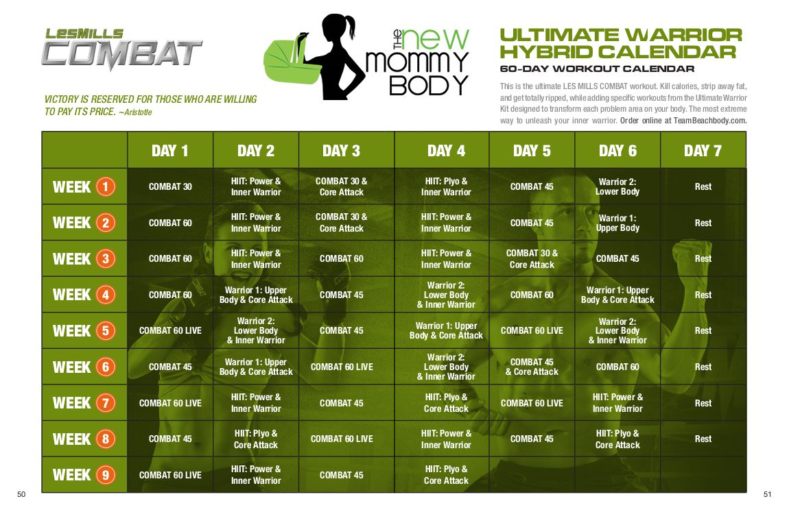 Lesmills Combat. Ultimate Warrior Hybrid 60 Day Workout throughout Les Mills Combat Ultimate Warrior Schedule