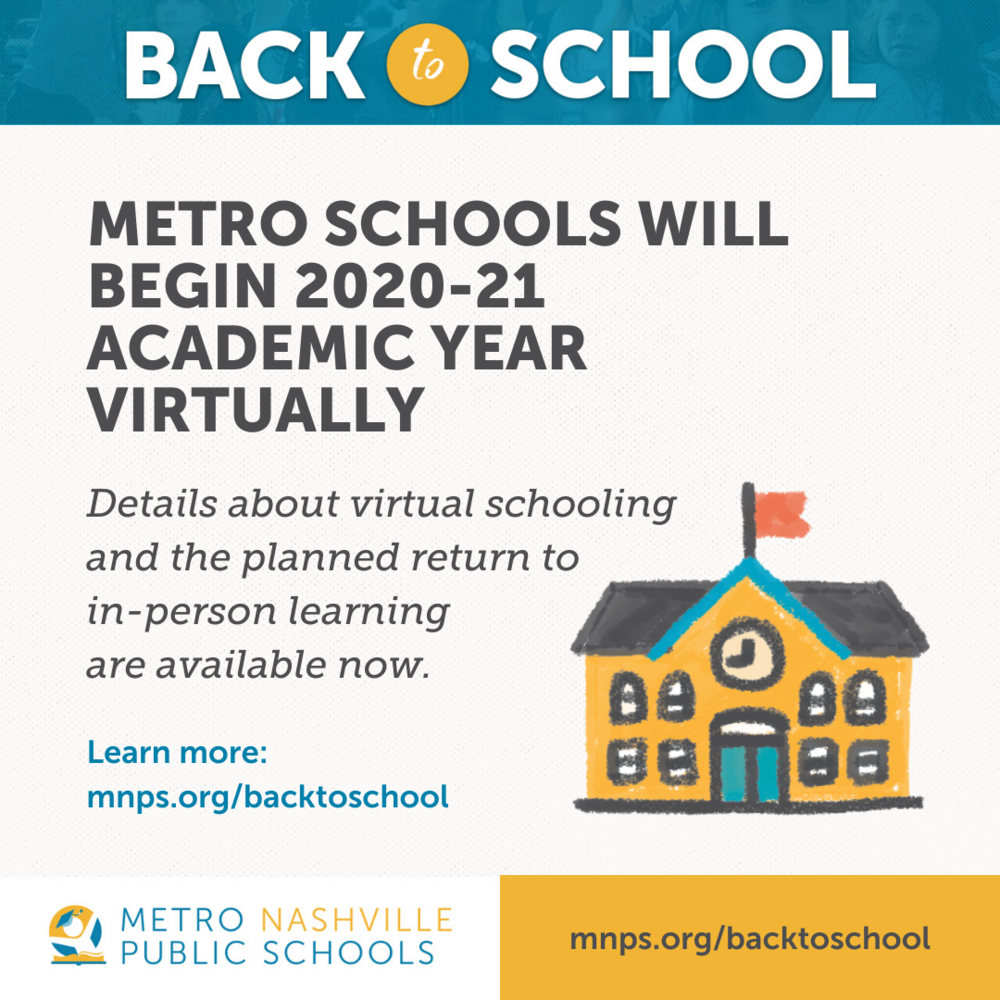 Metro Schools Will Begin 2020-21 School Year Virtually in Metro Nashville School Calendar 2021 20