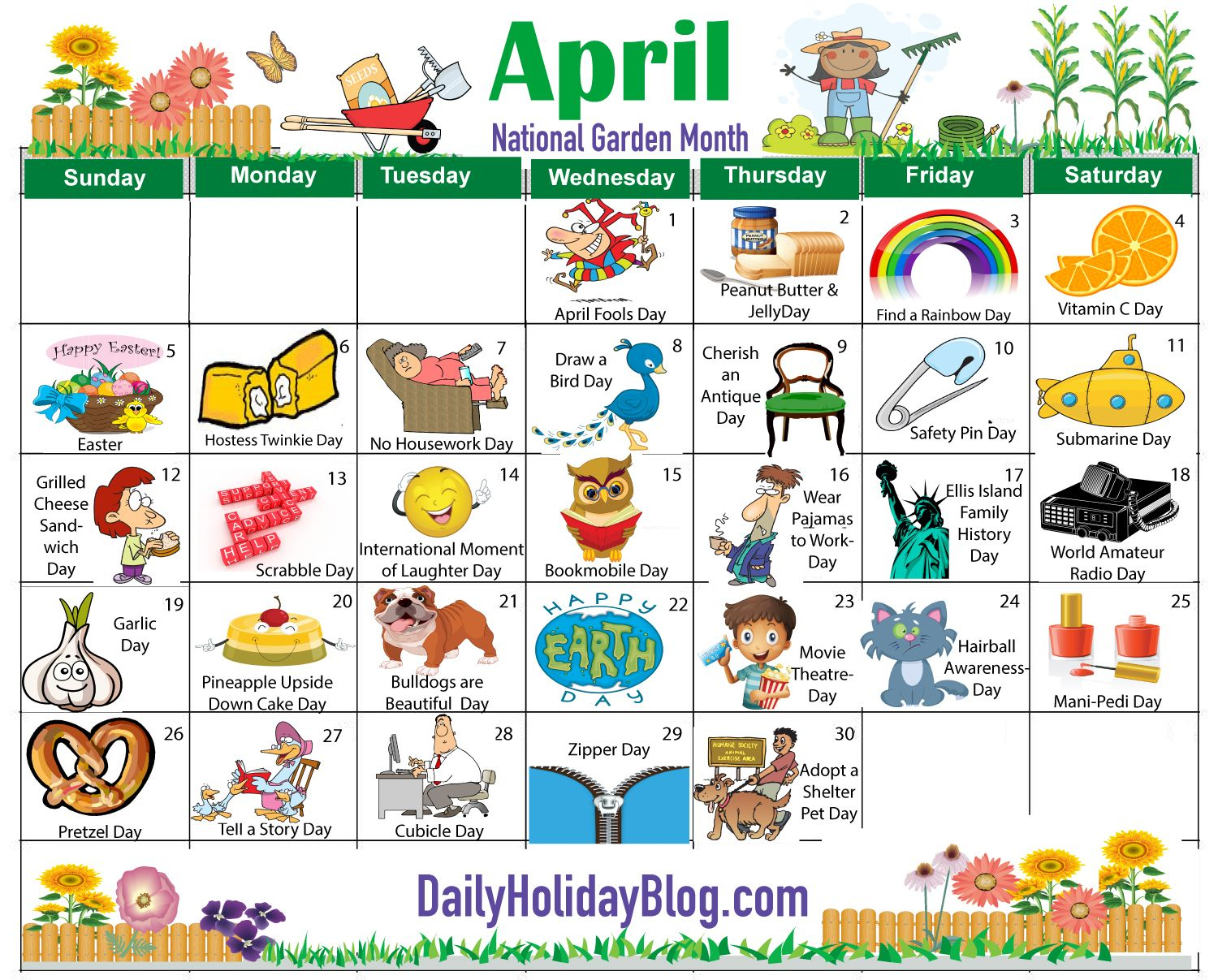 Monthly Holidays Calendars To Upload! | Weird Holidays Within Every Day Is A Holiday Printable