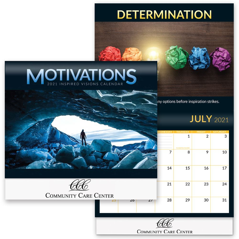 Motivations Inspired Visions 2021 Wall Calendar - Personalization Available Intended For American River College 2021 Calendar