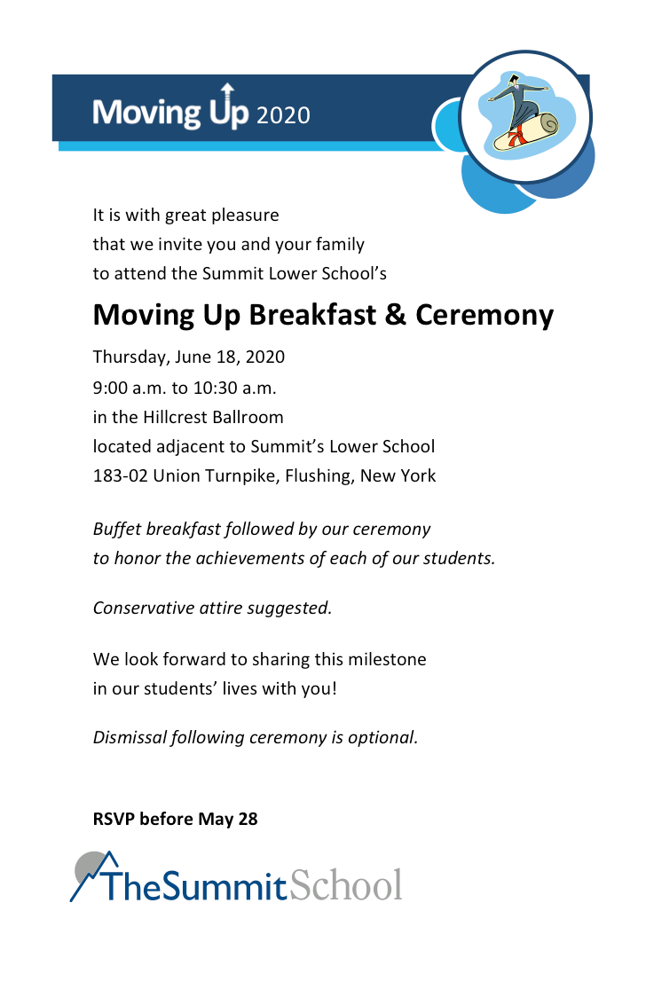Movinguprsvp — The Summit School Regarding Nyc School Calendar For 2015 2020