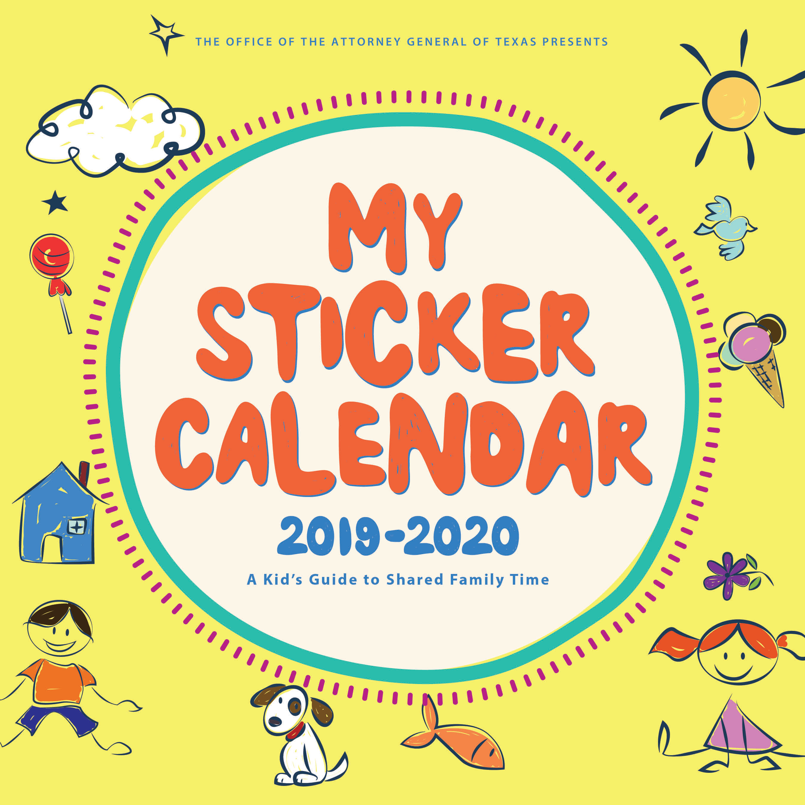 My Sticker Calendar | Office Of The Attorney General pertaining to Attorney General Texas Calender