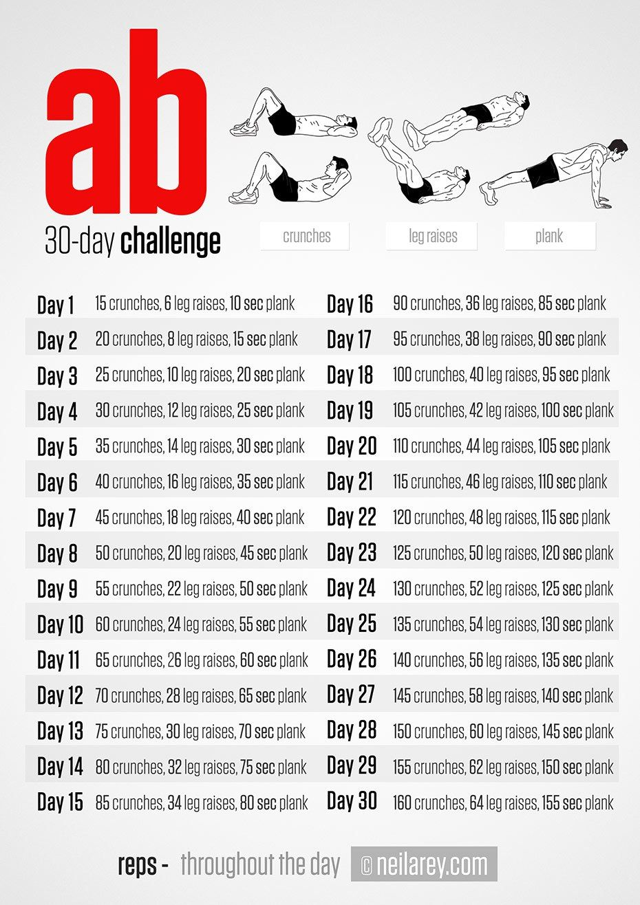 Neila Rey's 30 Day Ab Challenge – Coregasms | 30 Day Ab Inside 30 Day Ab Challenge Schedule