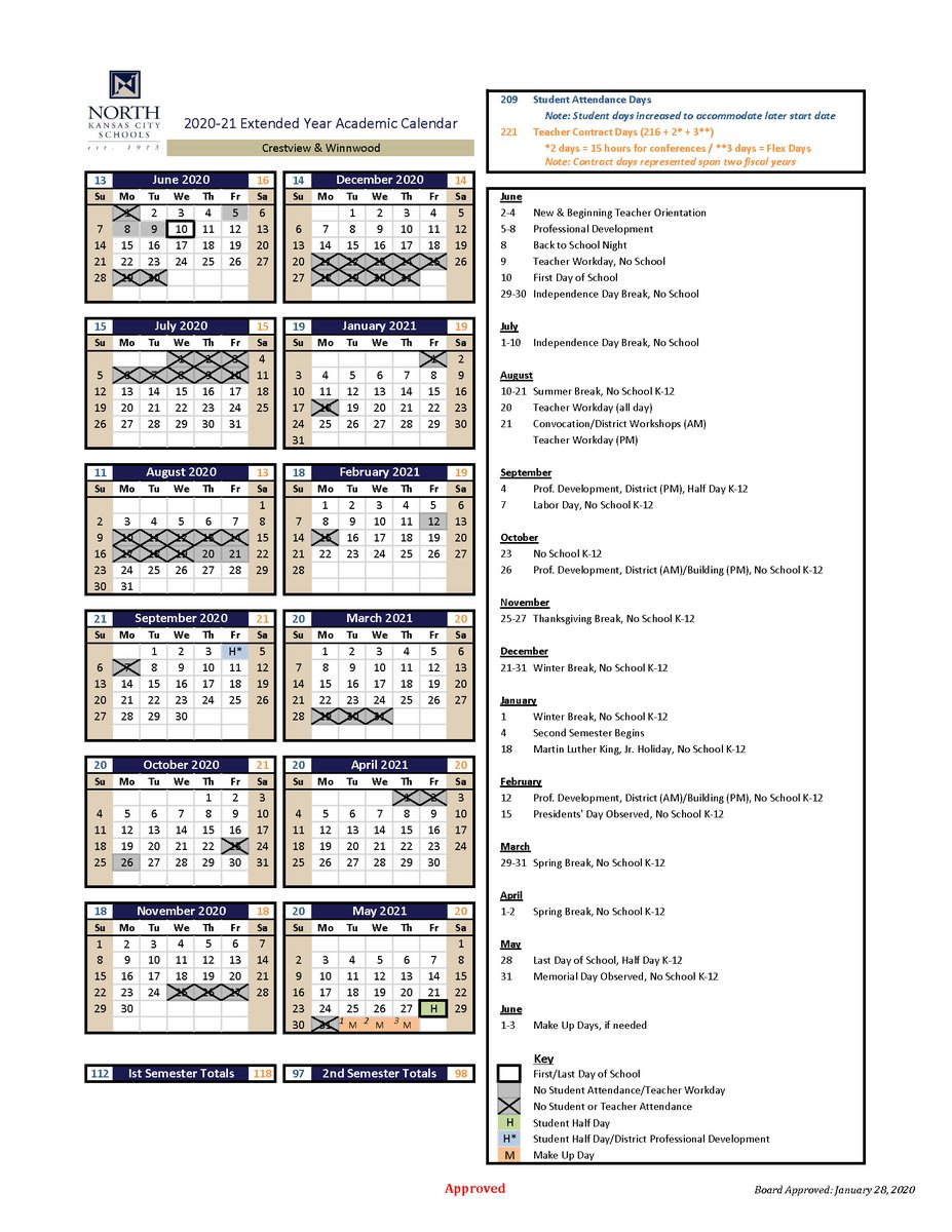 "Nkcschools On Twitter: ""next Year's Calendar Has Been Regarding Sinclair Academic Calendar"