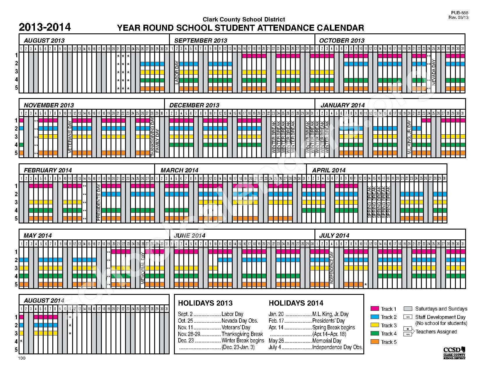 Online Collegess: Year Round Online Colleges Regarding Year Round School Schedule Sample
