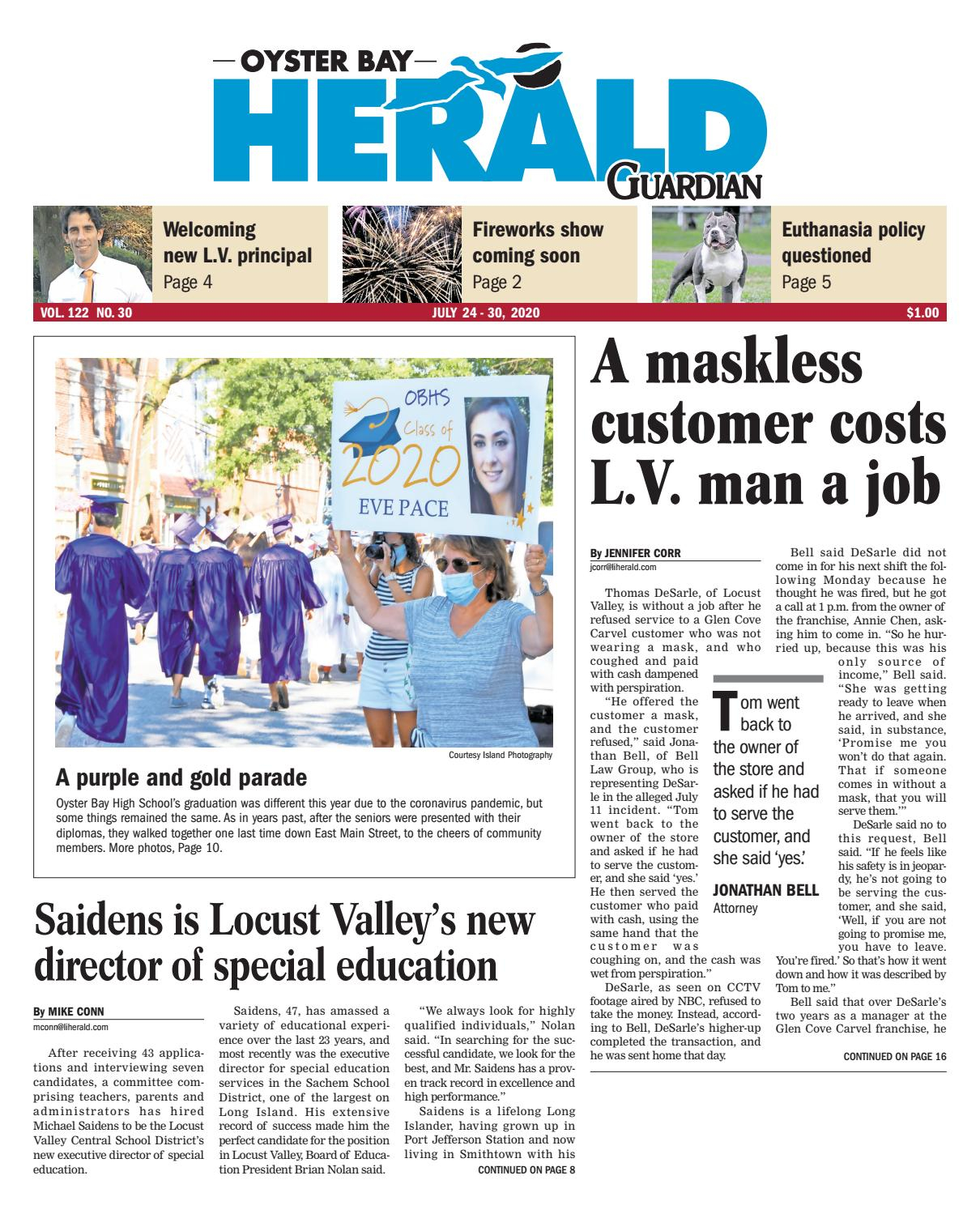 Oyster Bay Herald 07 23 2020Richner Communications, Inc Pertaining To Oyster Bay Calendar 2021