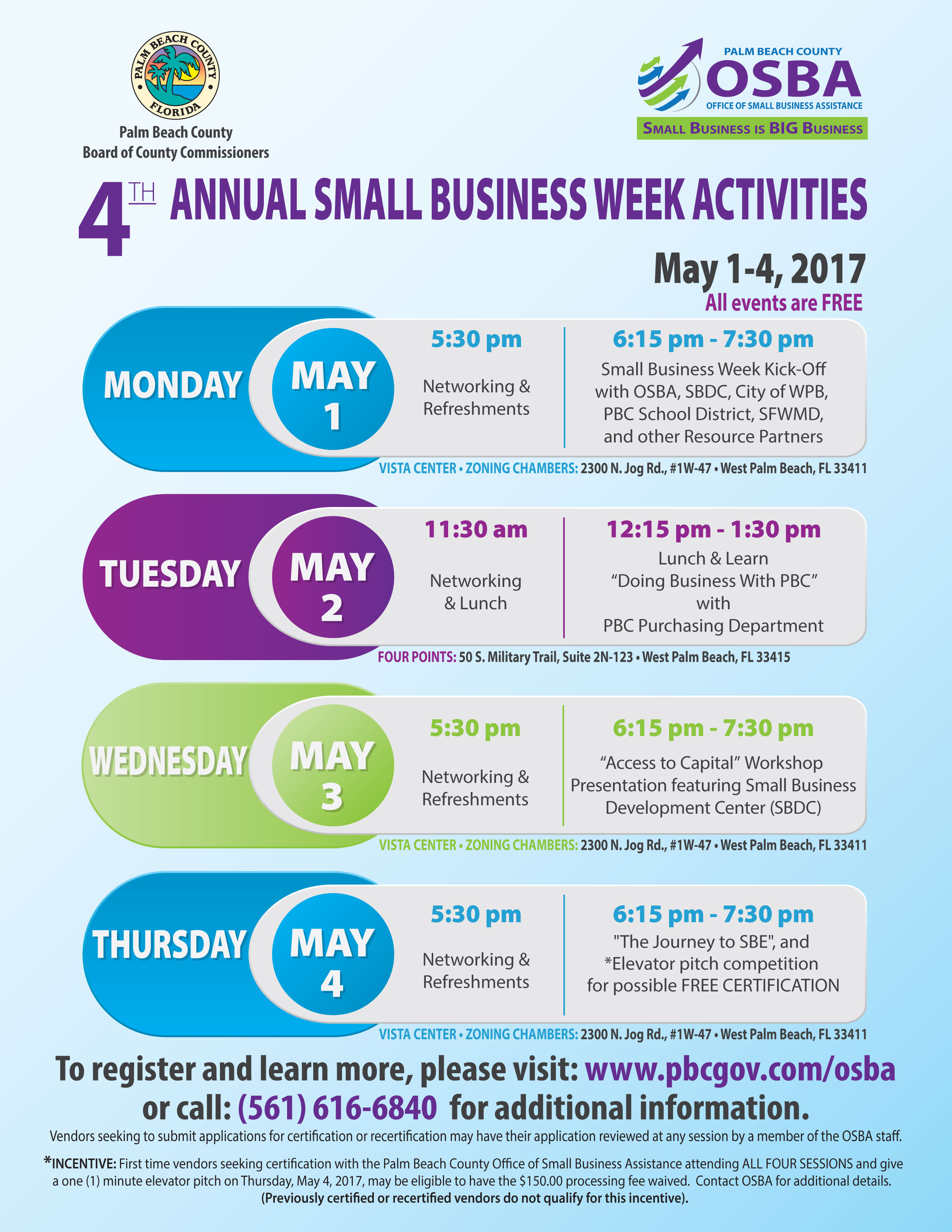 Palm Beach County Small Business Week Activities May 1 4 In Palm Beach County Auction Calendar