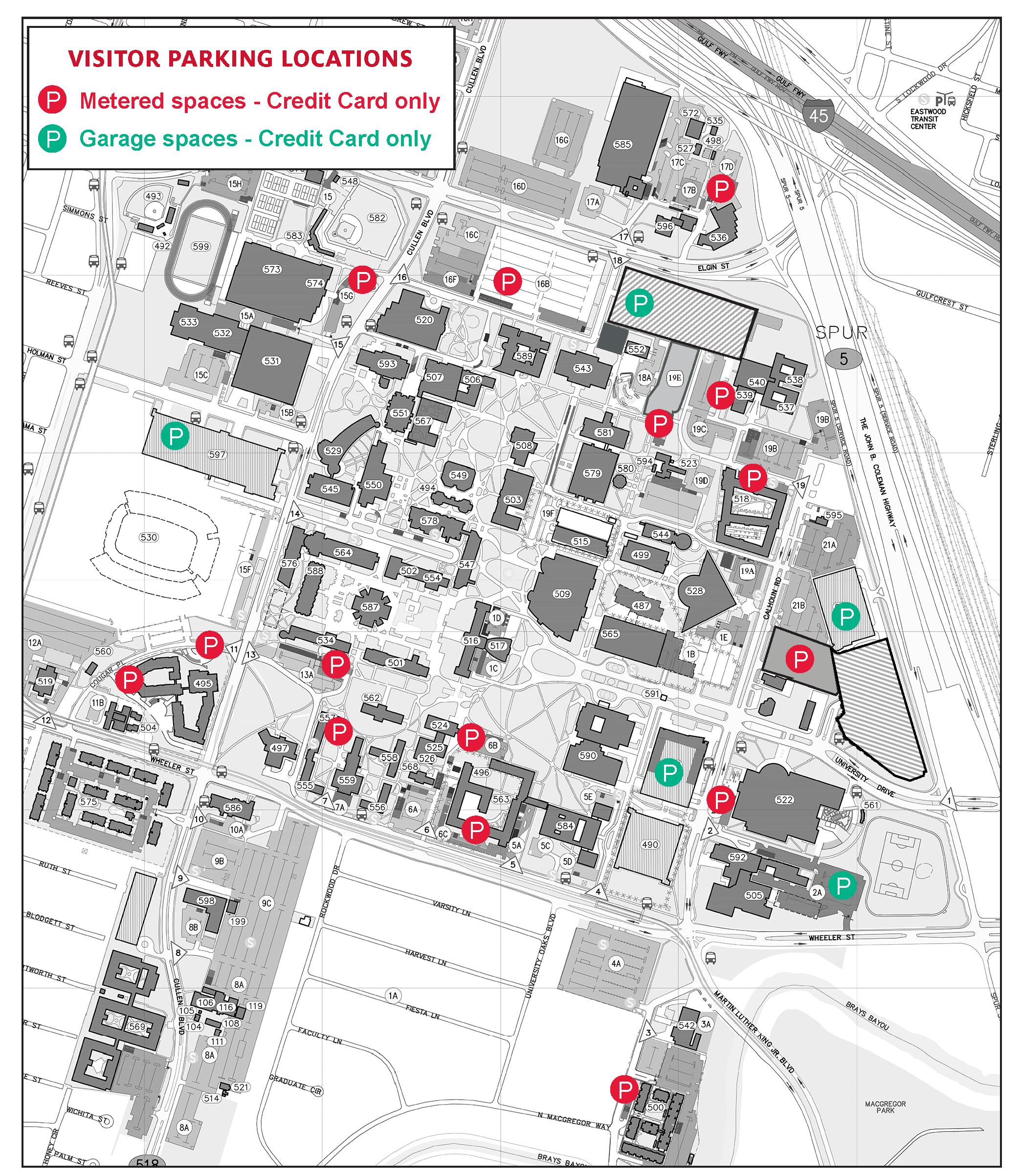 Parking Maps – University Of Houston Intended For University Of Houston 2021 2021 Calendar