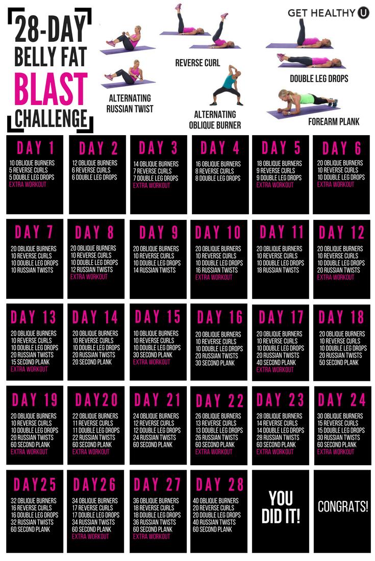 Pin On Workout Challenges & Calendars Regarding 30 Day Tummy Challenge Calendar