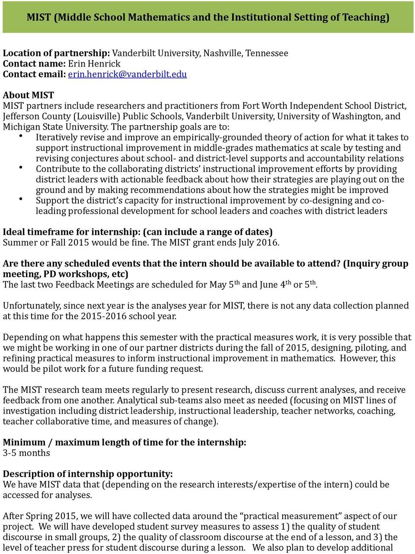 Rpp Internship Program For Graduate Students Call For For Colorado Jefferson County Teacher Calendar 2015/2020