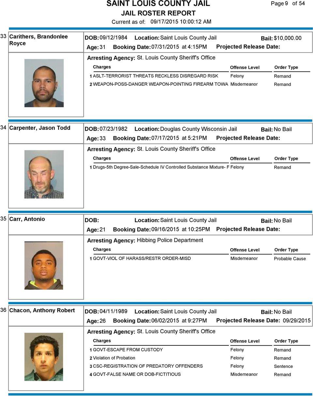 Saint Louis County Jail – Pdf Free Download Inside St Louis County Court Calendar Hibbing