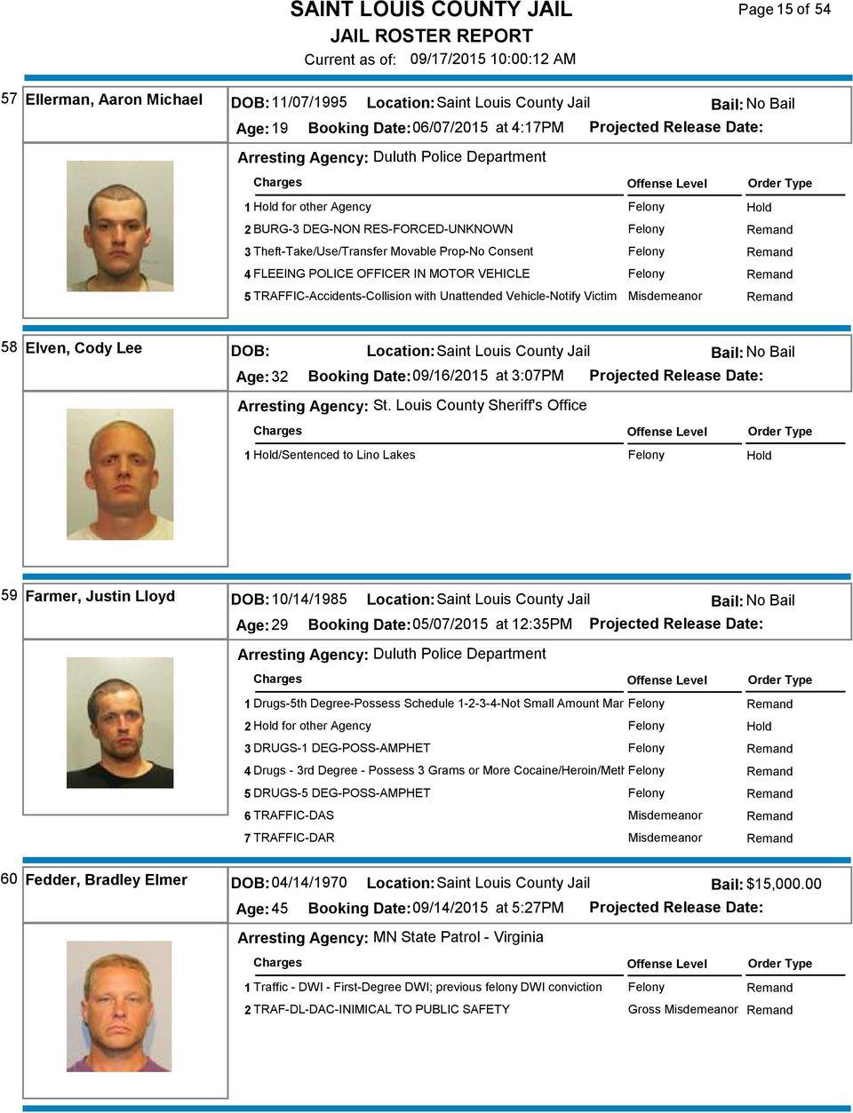 Saint Louis County Jail – Pdf Free Download Regarding St Louis County Court Calendar Hibbing