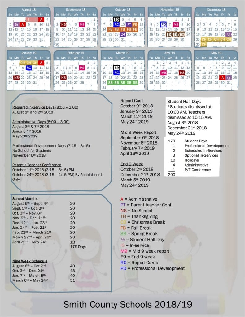 School Board Approves 2018/2019 School Calendar | Smith Throughout Bedford County Tn School Calendar 2021