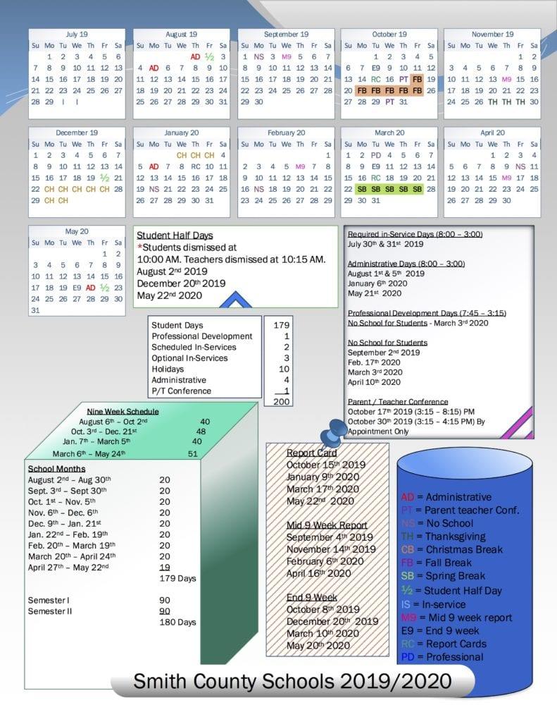 School Board Approves 2019/2020 School Calendar | Smith With Regard To Davidson County Tn School Calendar 2021 2020