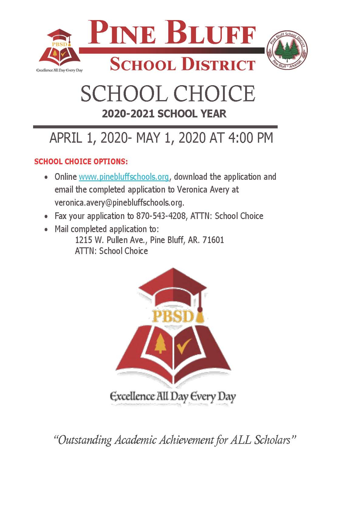 School Choice - Pine Bluff School District In Pine Bluff School District Calendar 2021