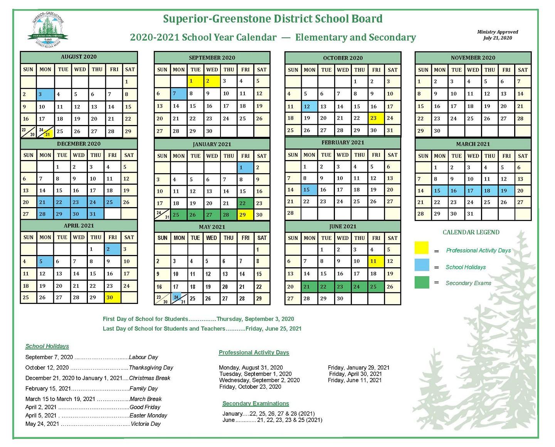 Sgdsb – School Year Calendar Pertaining To Green Bay School District 2020 Calander