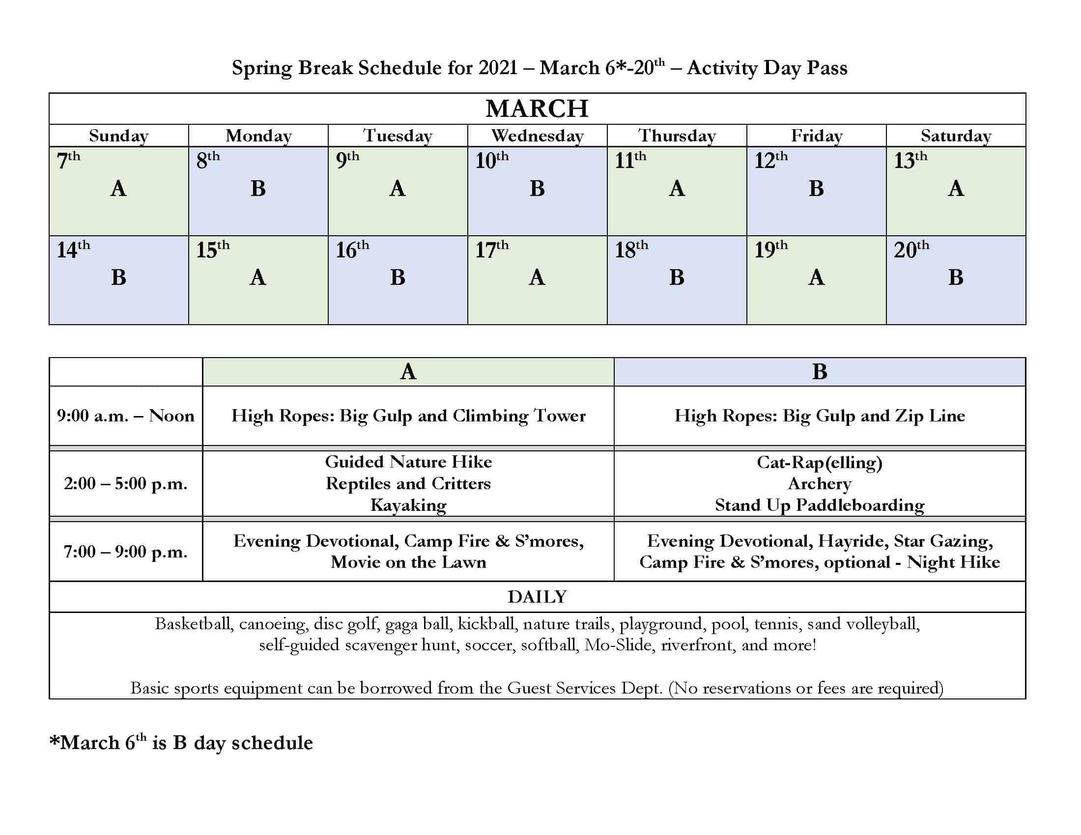 Spring Break Getaway • Presbyterian Mo Ranch Assembly Inside Point Loma School District Spring Break Calendar