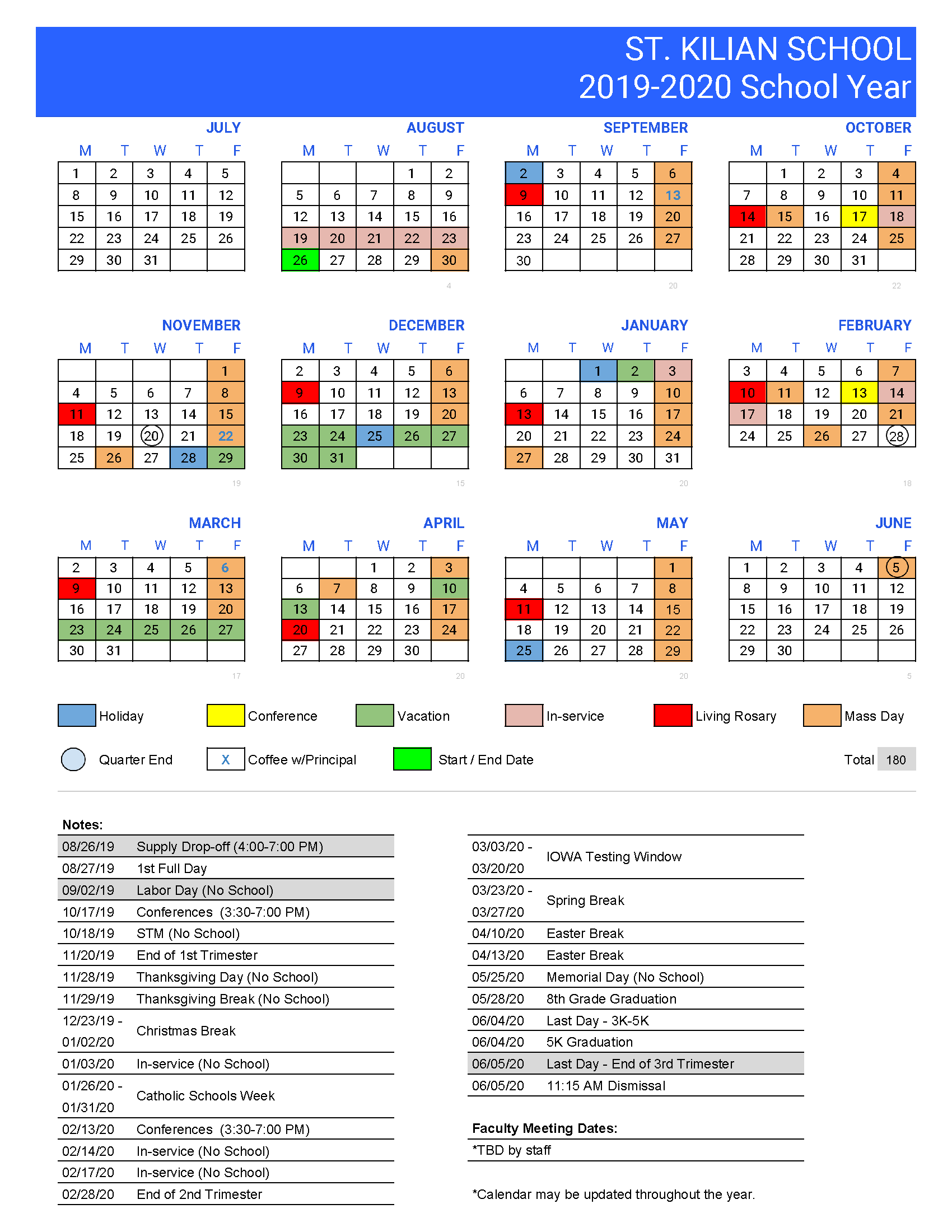 Spring Place Elementary Calendar – Calendar – St. Kilian Inside Las Cruces Isd Calendar