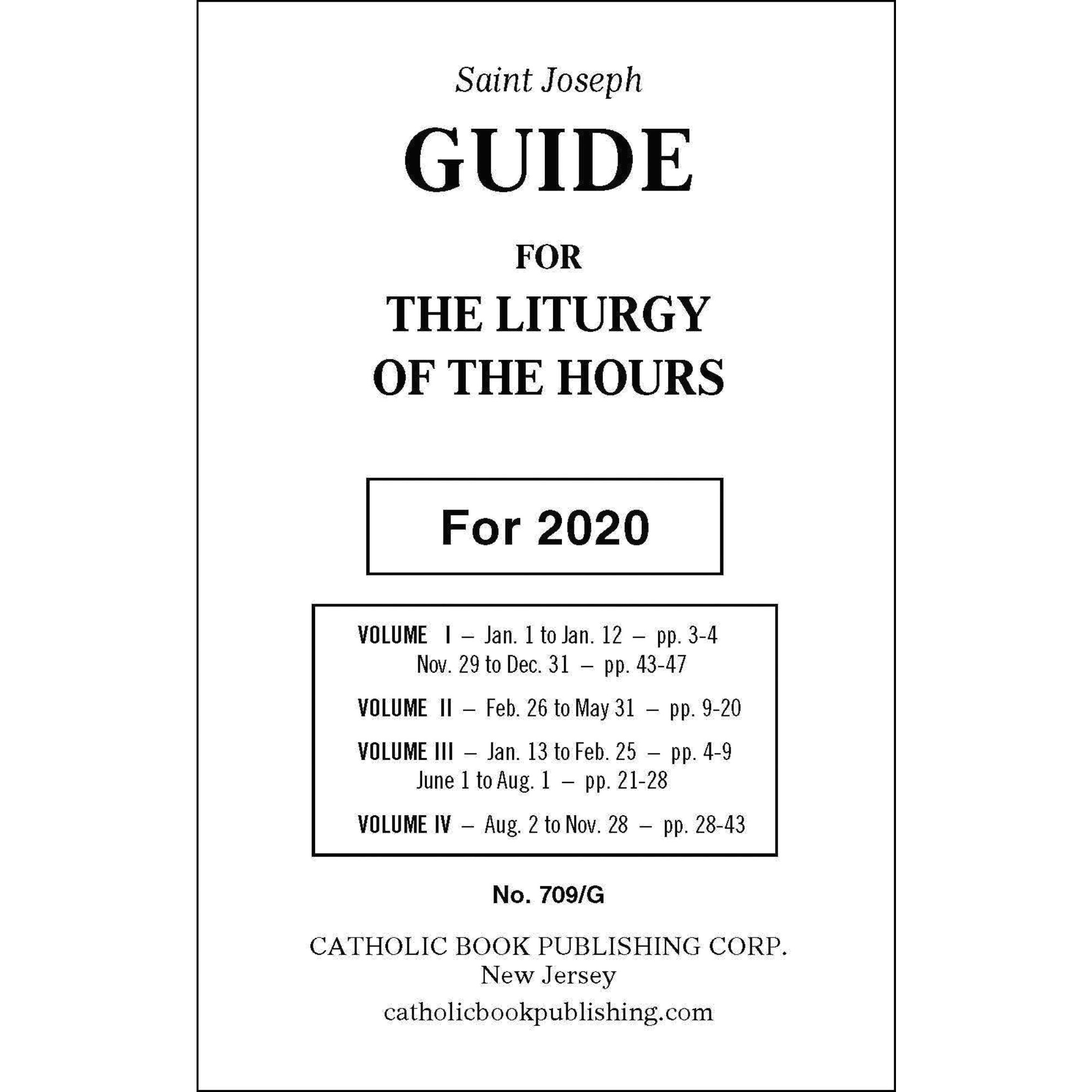 St. Joseph Guide For The Liturgy Of The Hours 2020 (Large Print) Pertaining To Liturgy Of The Hours Printable