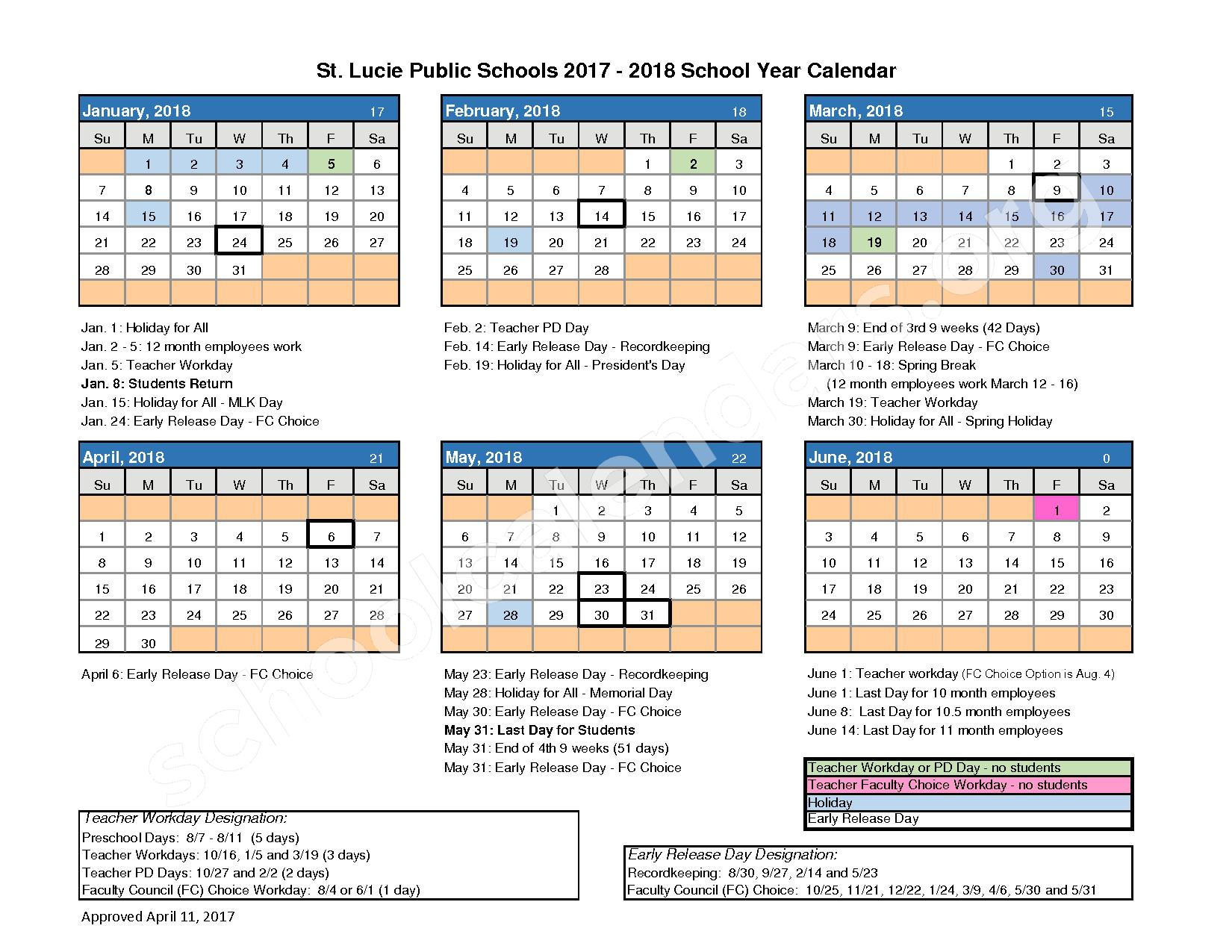 St. Lucie West Centennial High School Calendars – Port St with regard to Port St Lucie School District Calendar