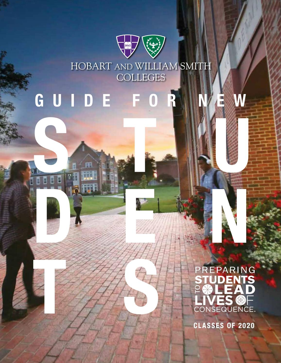 Student Guide 2016Hobart And William Smith Colleges – Issuu Pertaining To Hobart William Smith School Calendar