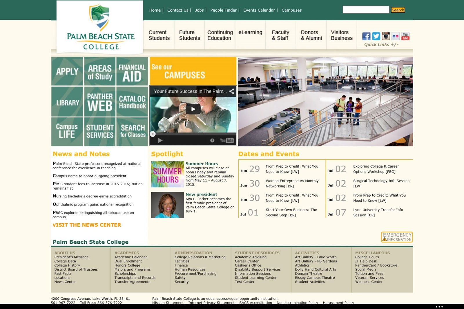 The Good And The Bad When It Comes To Website Design And With Palm Beach State College School Calendar