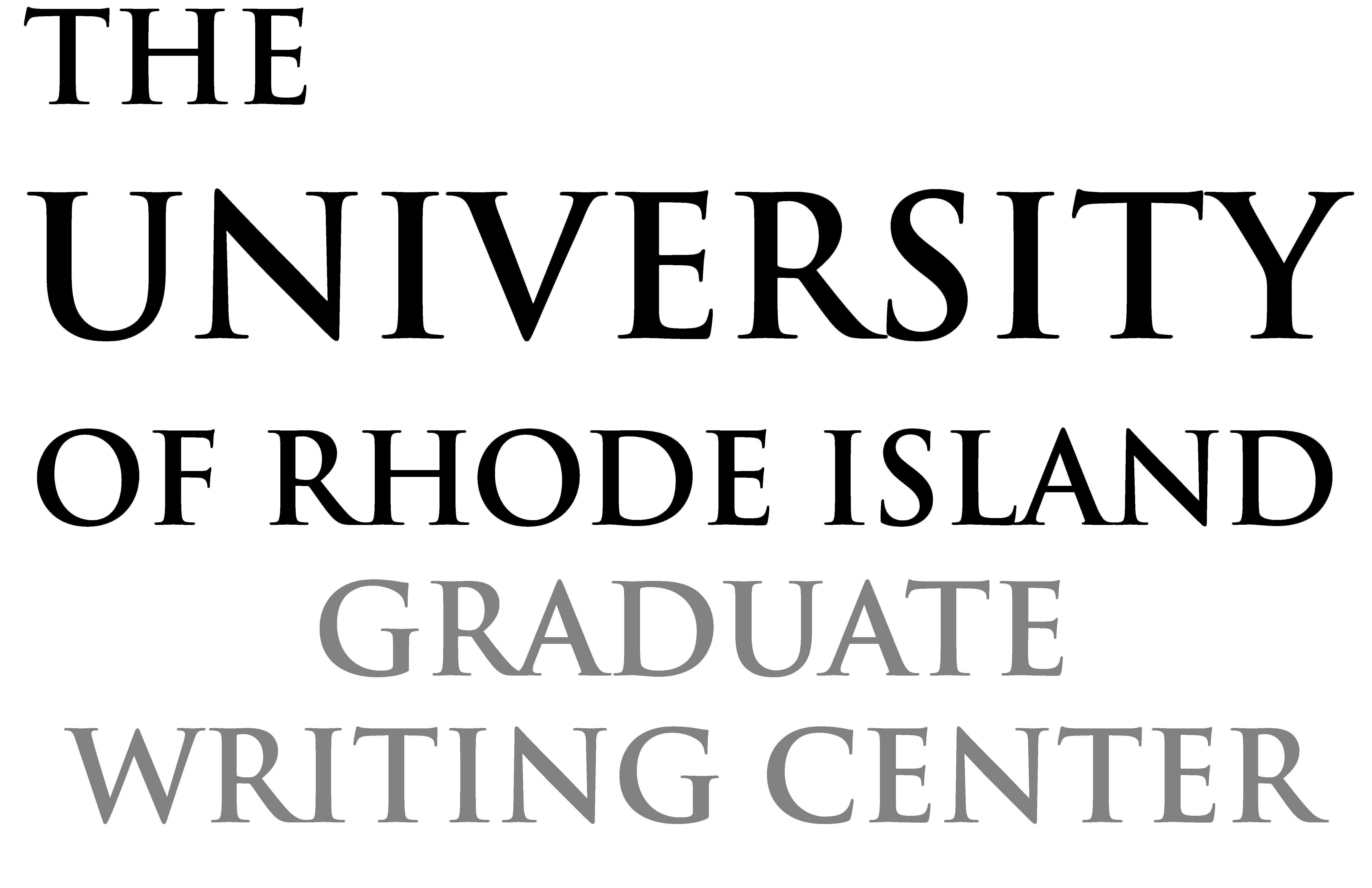 The Graduate Writing Center – Helping Uri Graduate Students Intended For University Of Rhode Island Calendar