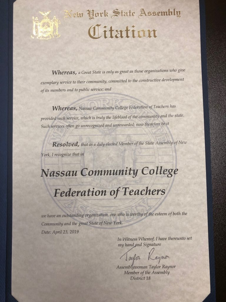 The Nccft Year In Review: 2018 2019 – Nccft Pertaining To Nassau Community College Academic Calendar Spring 2020