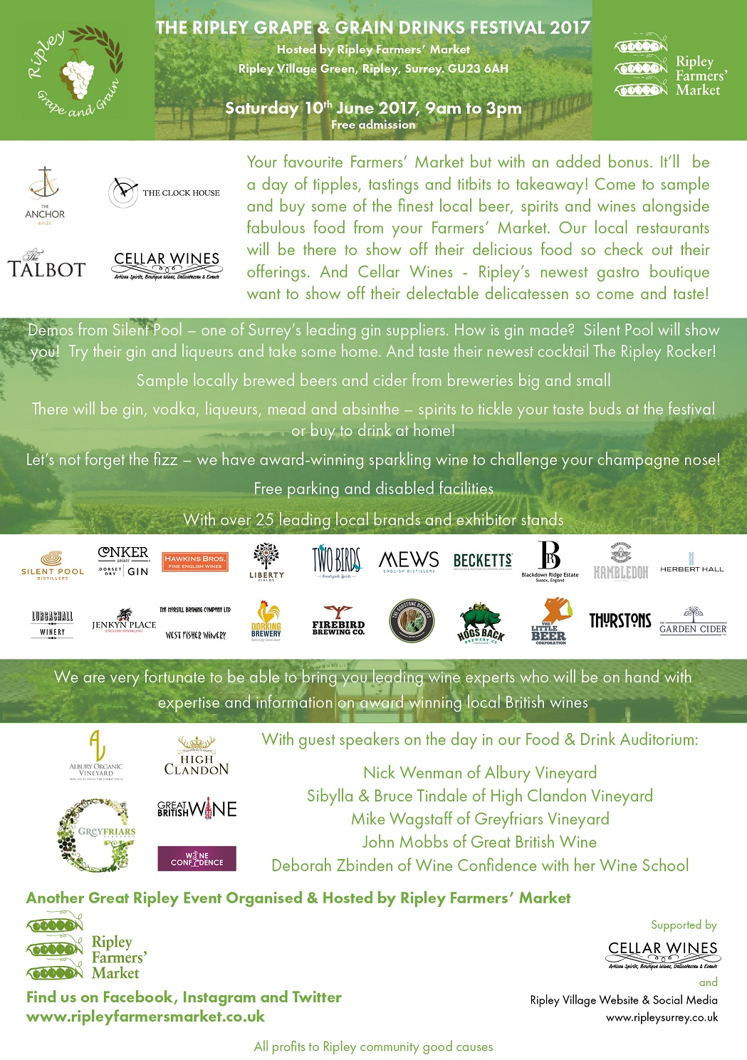 The Ripley Grape And Grain Drinks Festival | Surrey Hills Regarding Ripley Trade Days Schedule