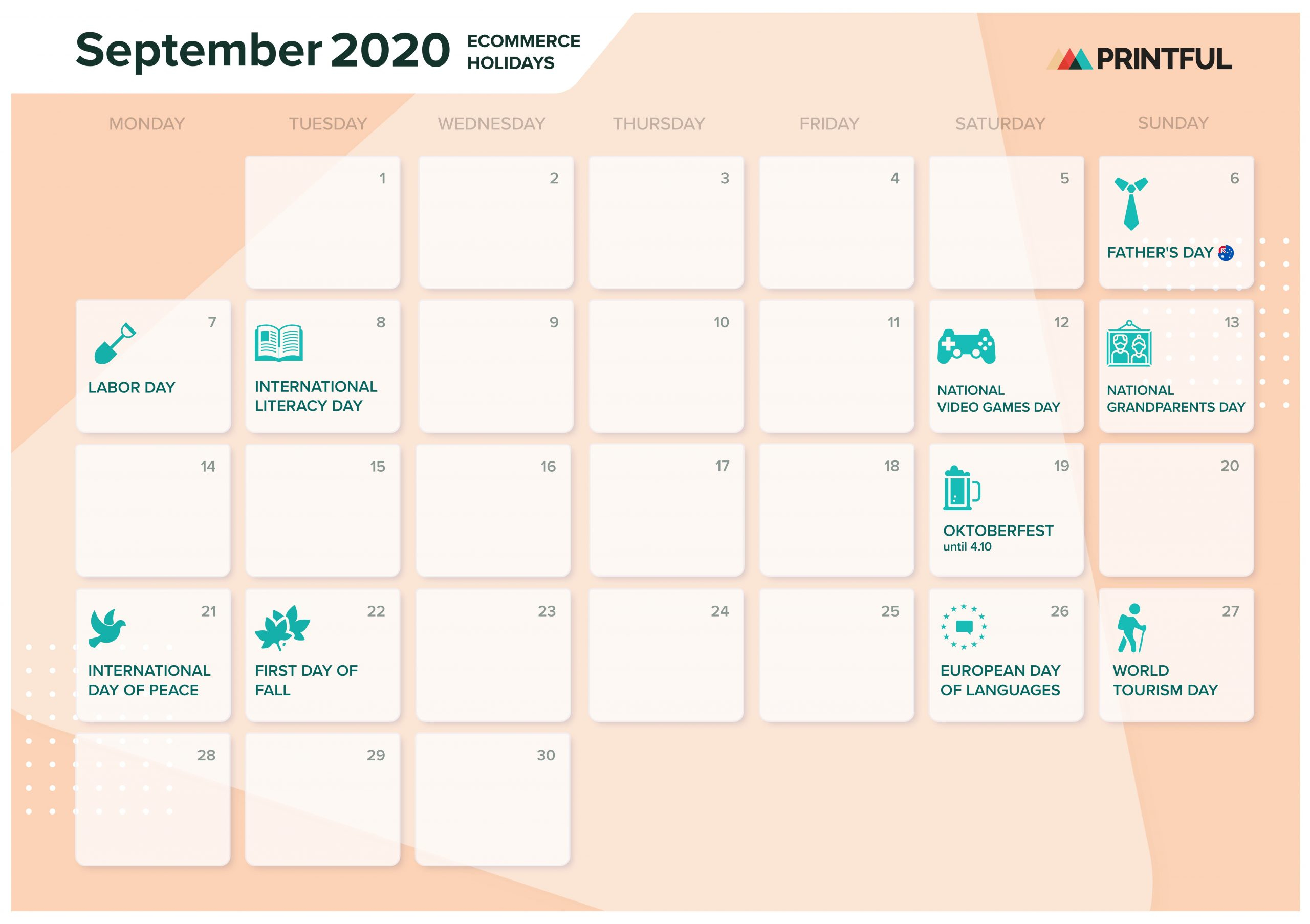 The Ultimate 2020 Ecommerce Holiday Marketing Calendar For October Month Mexican Calendar With Personal Names