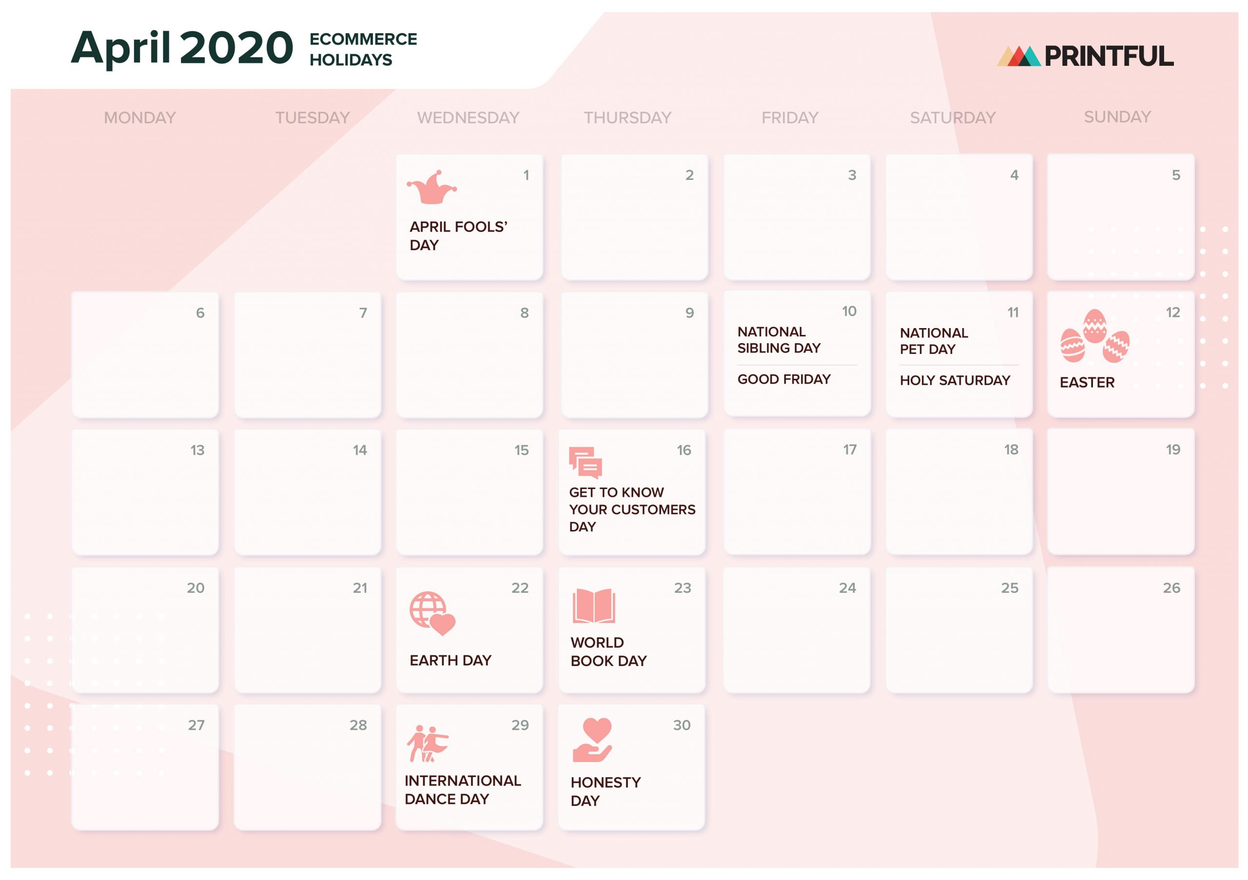The Ultimate 2020 Ecommerce Holiday Marketing Calendar In October Month Mexican Calendar With Personal Names