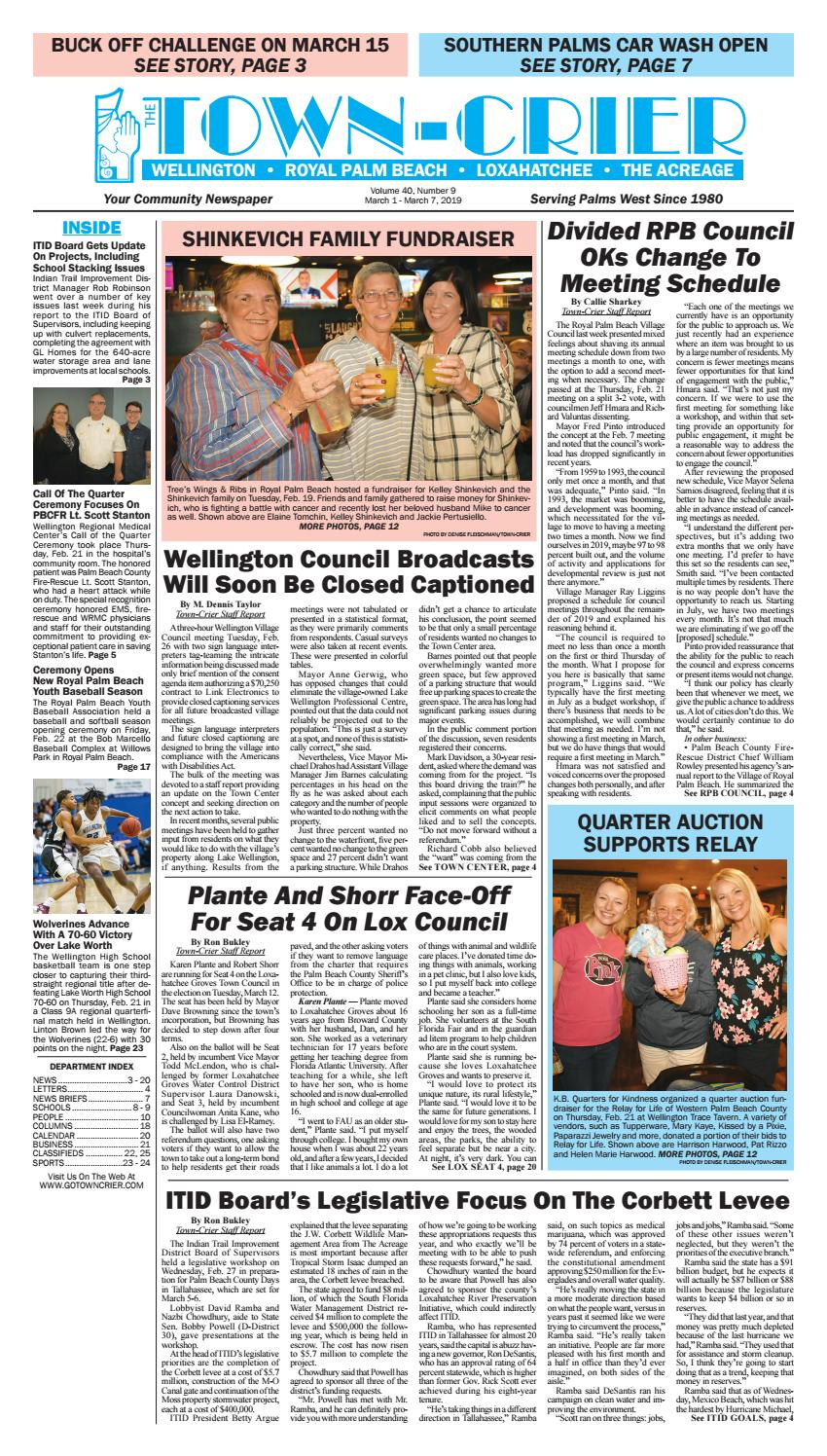 Town Crier Newspaper March 1, 2019Wellington The Within Palm Beach County Auction Calendar