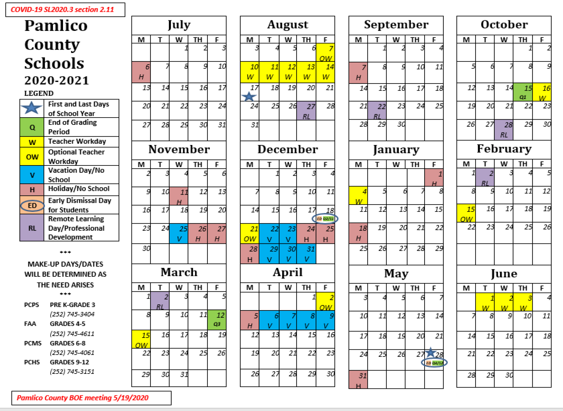 Updated School Calendar 2019 2020  Miscellaneous – Fred A With Lenoir County 2021 2021 School Calendar