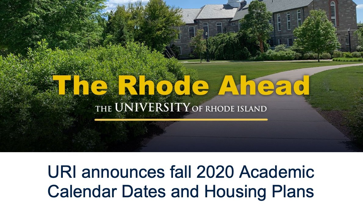 "Uri On Twitter: ""uri Announces Fall 2020 Academic Calendar in University Of Rhode Island Calendar"