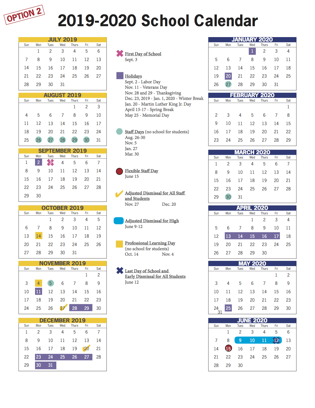 Vbcps E-Town Hall - 2018-2019 And 2019-2020 School Calendar regarding Va Beach Schools Staff Calendar