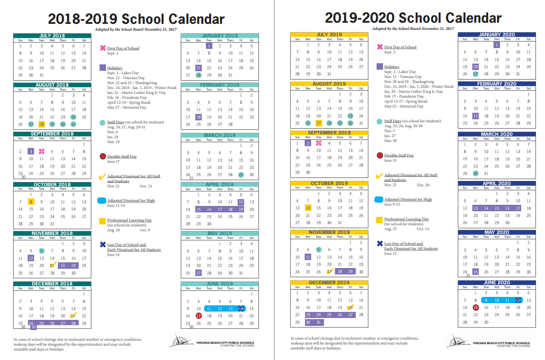 Virginia Beach City Public Schools News Release Throughout Va Beach Schools Staff Calendar