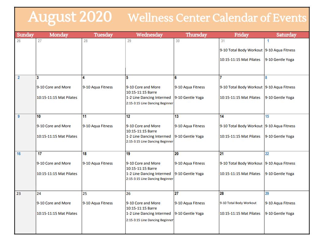 Wellness Calendar Of Events – Vineyards Wellness Naples Regarding Calendar Of Events Naples Florida