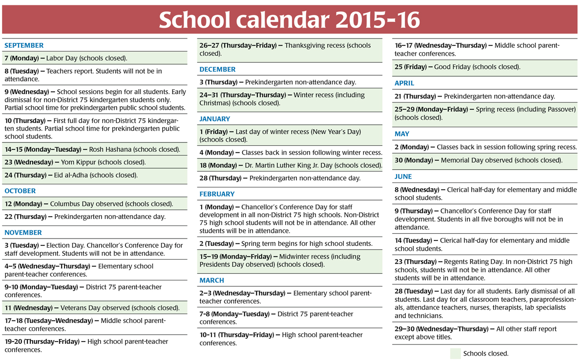 Yangah Solen: Nyc Doe Calendar within Nyc Doe Calendar 2015 2020